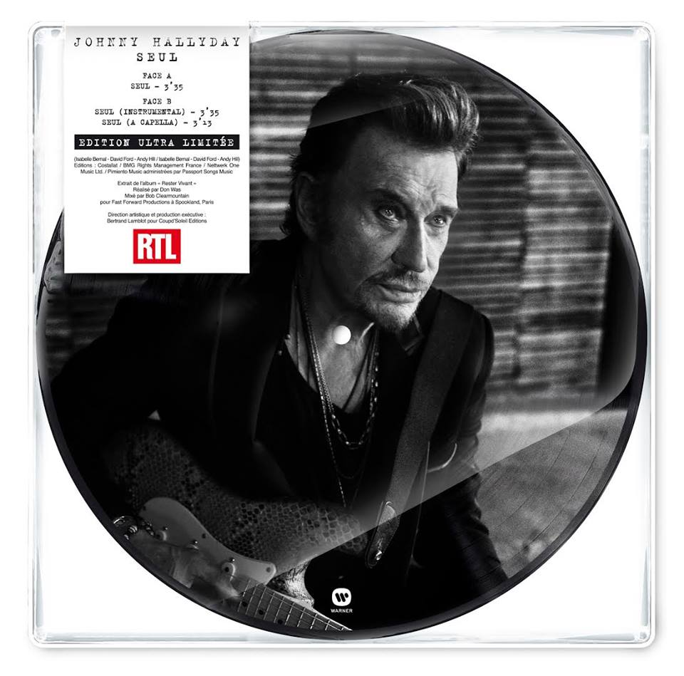 Sortie Seul Johnny Hallyday Picture Disc 45t Mes