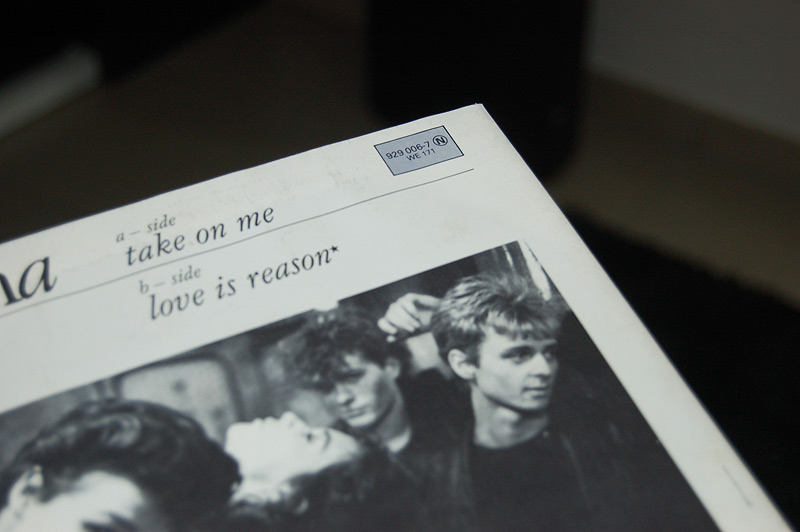 A-ha Take on me Pochette Disque vinyle 45 tours