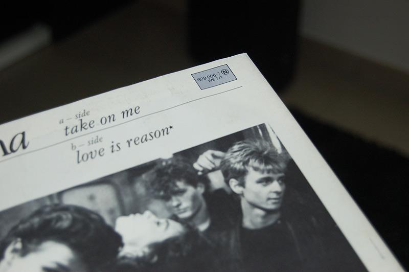 A-ha Take on me Pochette Disque vinyle 45 tours