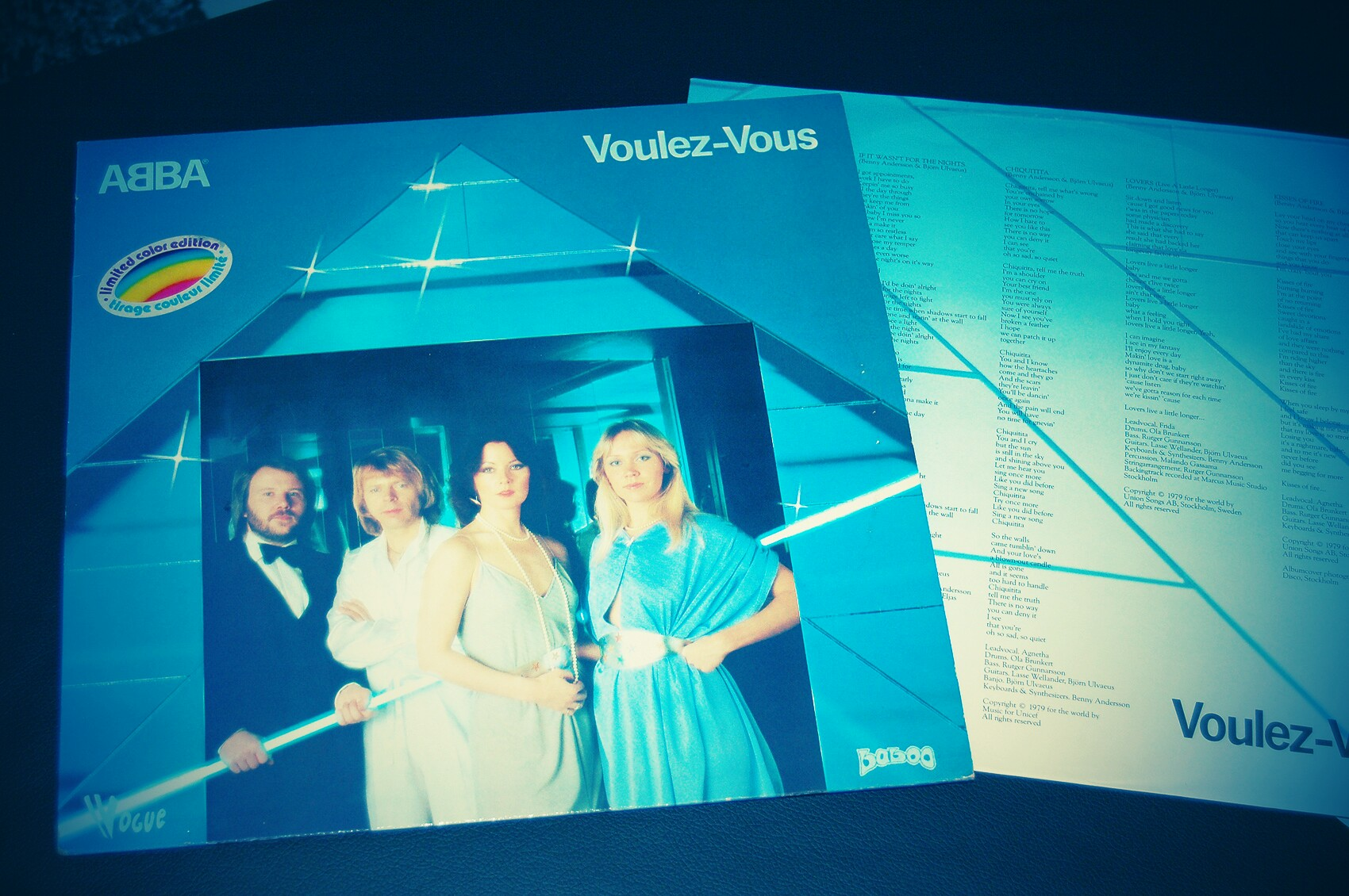 Pochette de Abba Voulez Vous 1979 Vinyl LP - Limited Color Edition