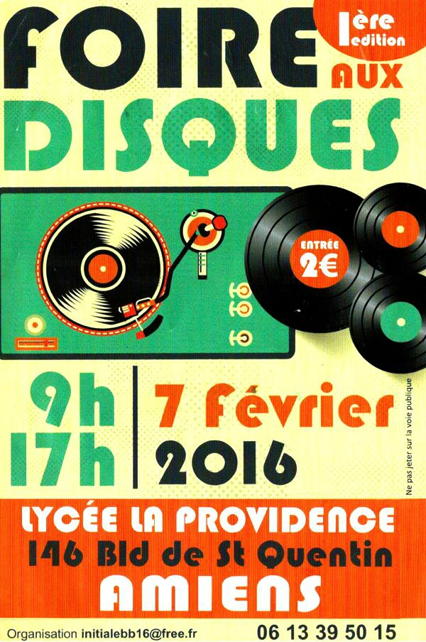 Salon du Disque Amiens - Bourse collection disques Vinyles & CD
