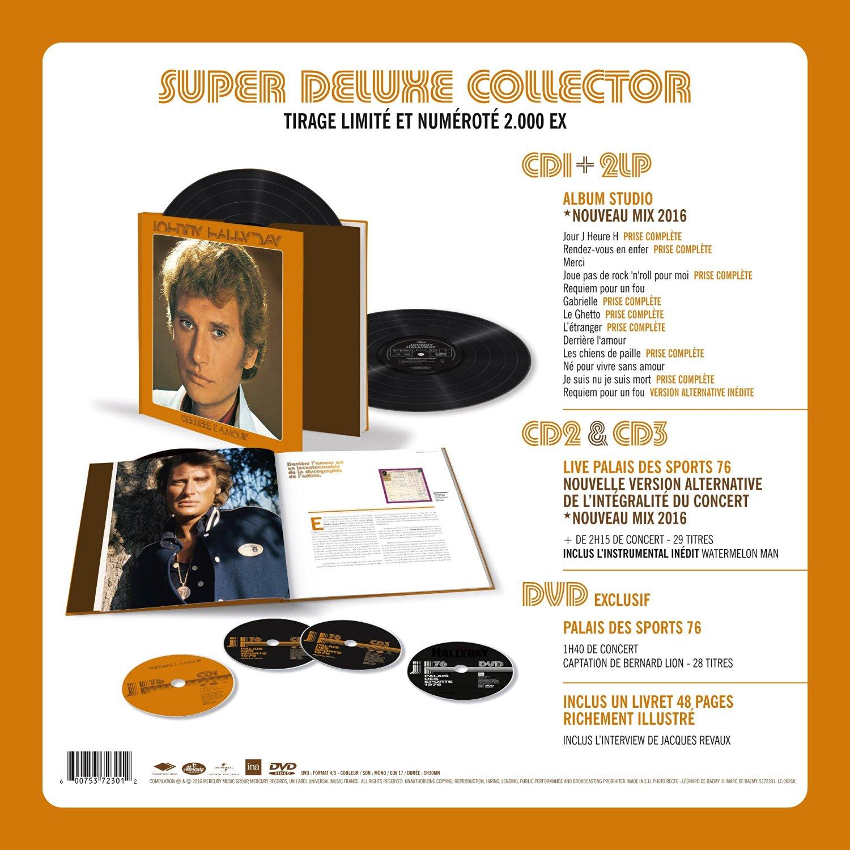 Derrière l'Amour - Johnny Hallyday - Collector - Tirage limité et numéroté