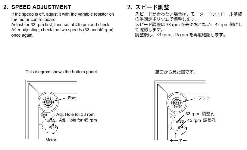 Réglage des vitesses sur une platine vinyl DENON DP 300F